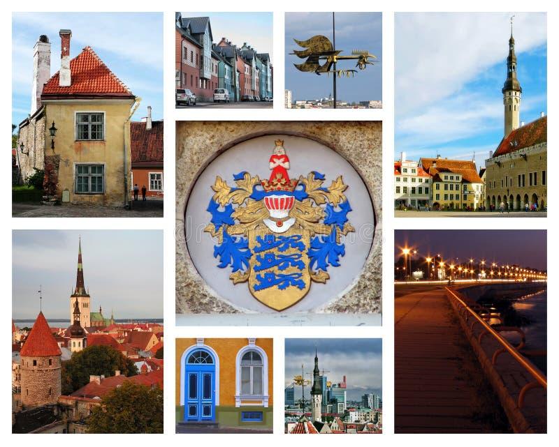 collage Tallinn image libre de droits