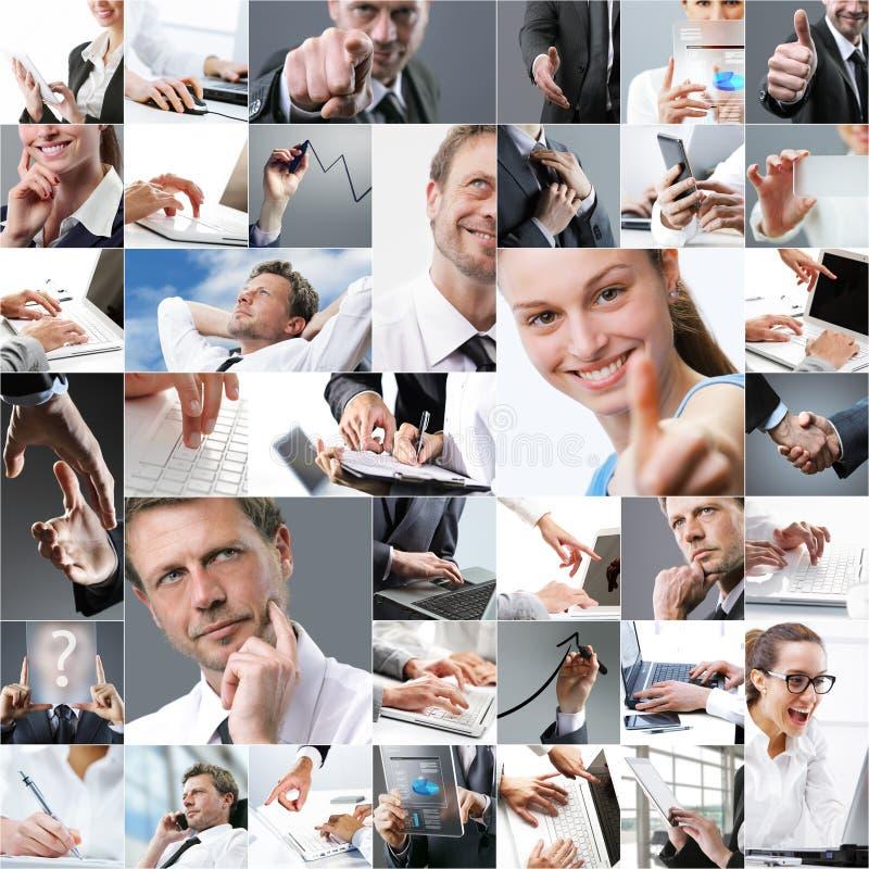 Collage temático del negocio foto de archivo libre de regalías