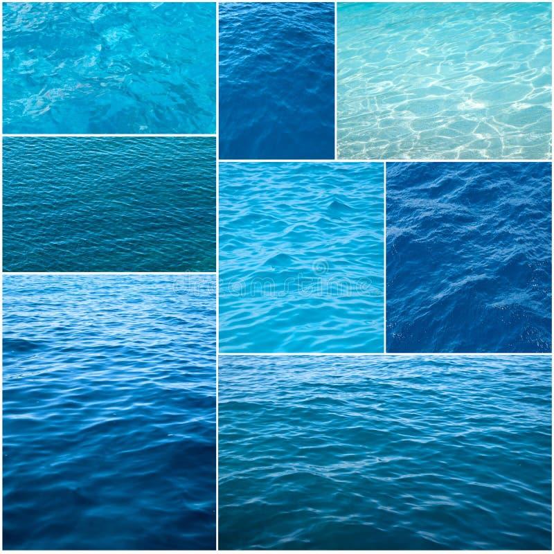 collage textures vatten royaltyfri fotografi