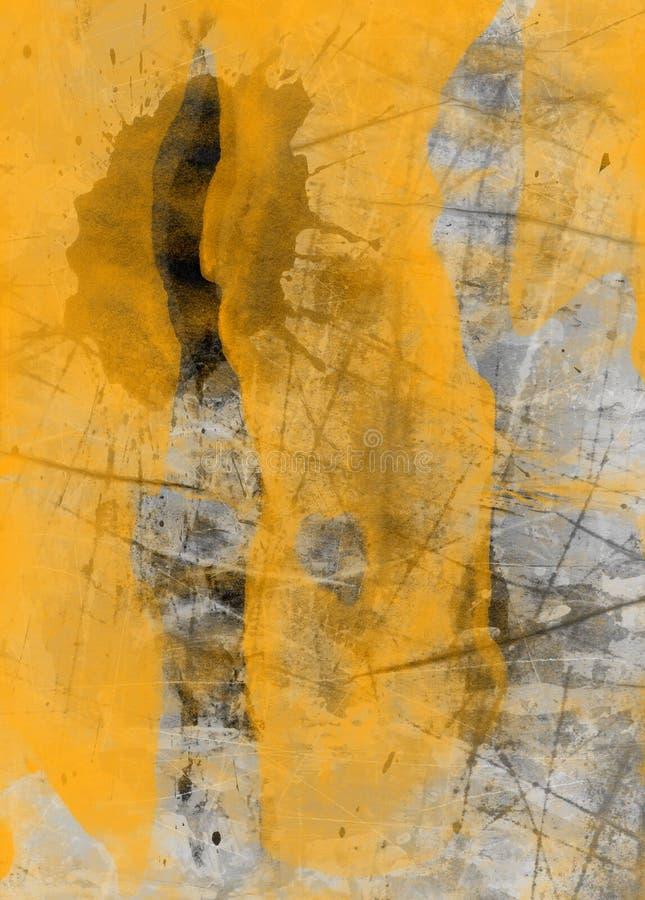 Collage texturisé abstrait grunge de media mélangé, art illustration libre de droits