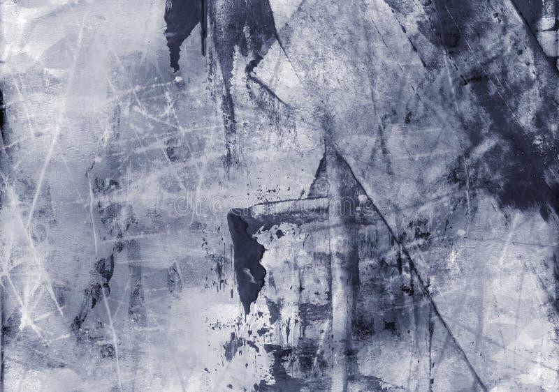 Collage texturisé abstrait grunge de media mélangé, art illustration stock