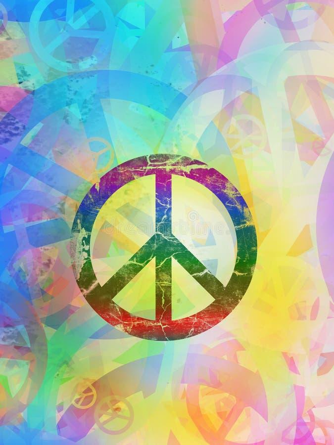Collage texturizado extracto - fondo de la paz libre illustration
