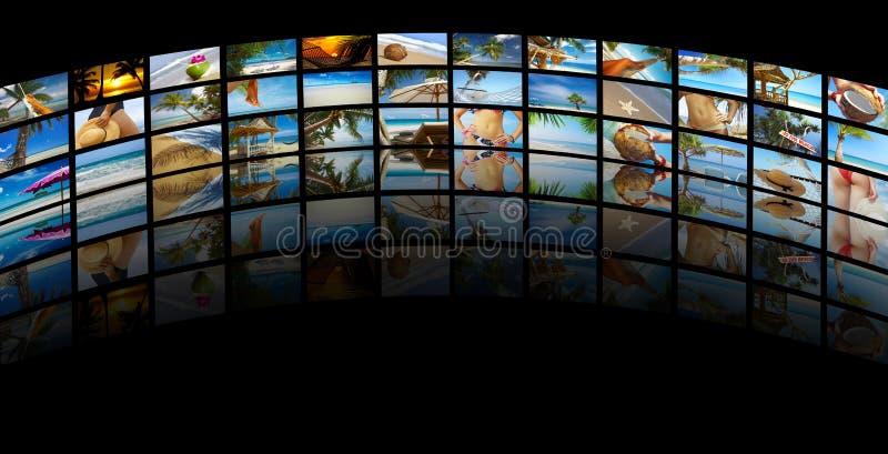 Collage tropicale immagine stock libera da diritti