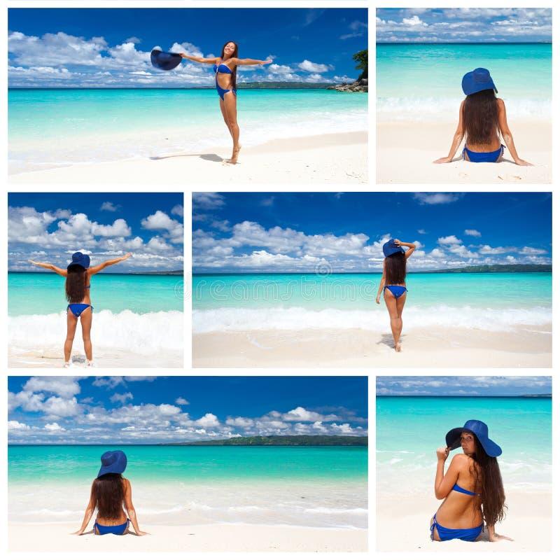 Collage tropicale immagini stock