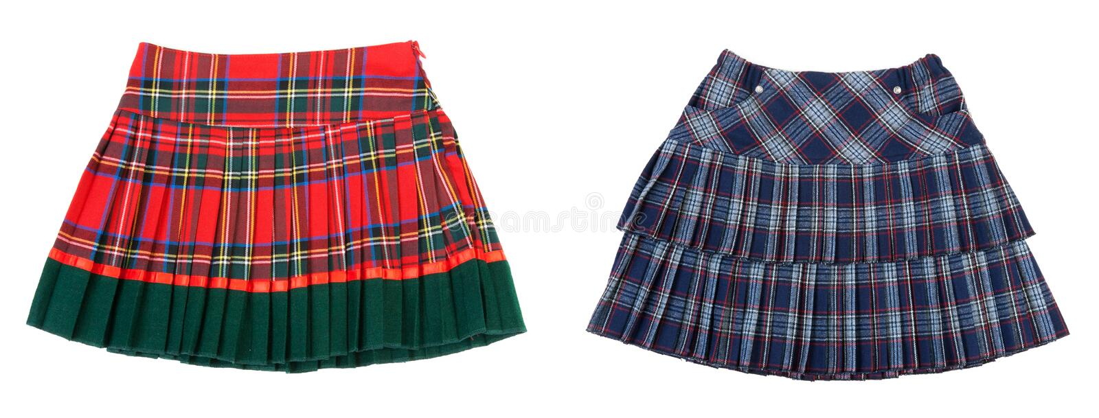 Download Collage two striped skirts stock photo. Image of clothes - 17088732
