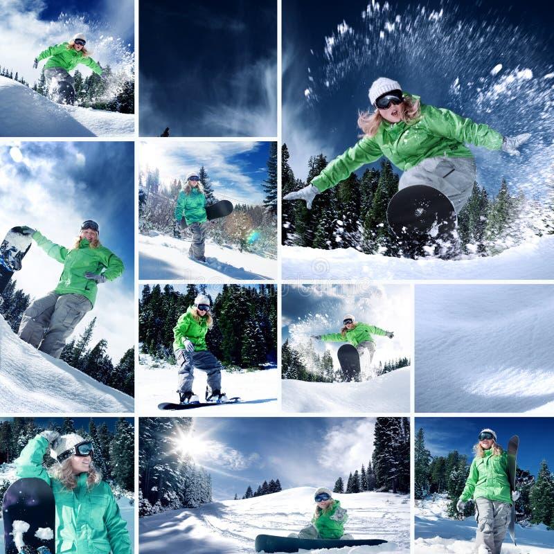 Collage uit een paar verschillende beelden wordt samengesteld dat stock foto