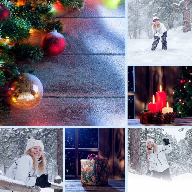 Collage uit verschillende beelden wordt samengesteld dat stock foto's