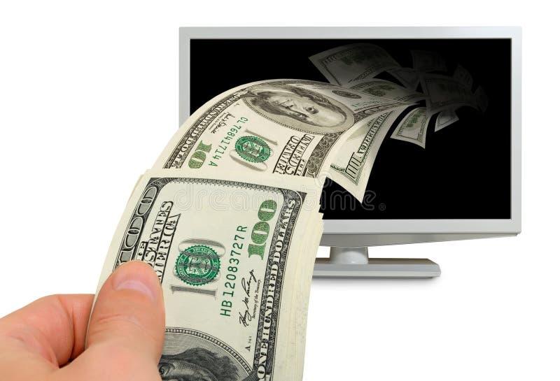 Ganancias del Internet, pago. imagen de archivo libre de regalías