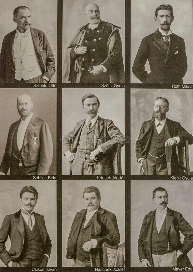 Collage van beroemde Hongaarse historische cijfers royalty-vrije stock fotografie