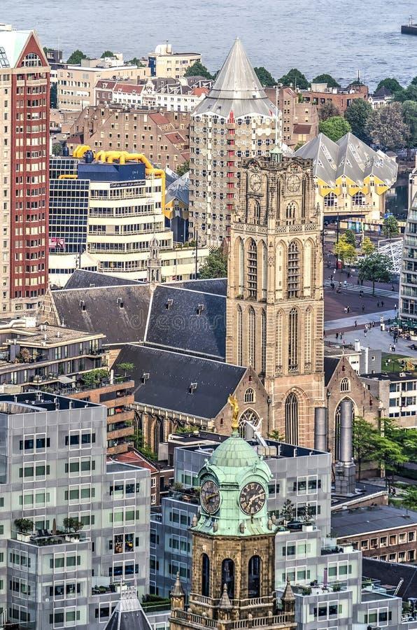 Collage van de oriëntatiepunten van Rotterdam stock foto