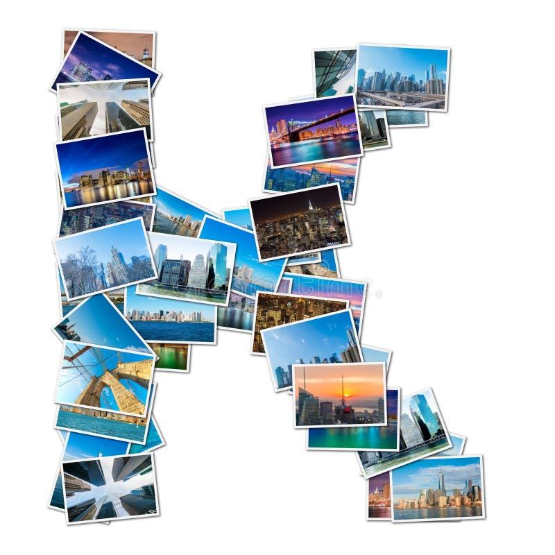 Collage van diverse foto's van New York stock foto