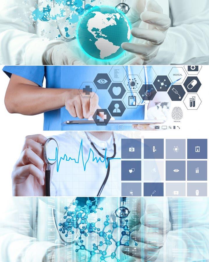Collage van Diverse moderne medisch stock afbeeldingen