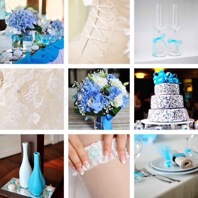 Collage van huwelijksfoto's stock foto