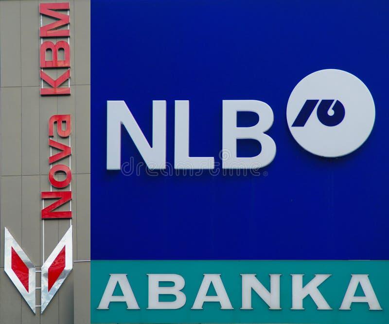 Sloveense die Banken door Crisis in Eurozone worden beïnvloed stock foto's