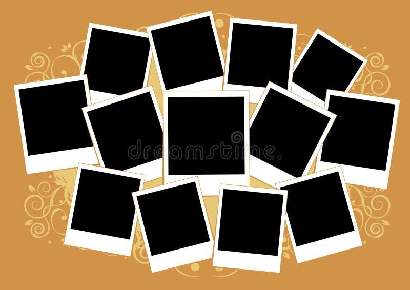 Collage van foto's. Malplaatje. vector illustratie