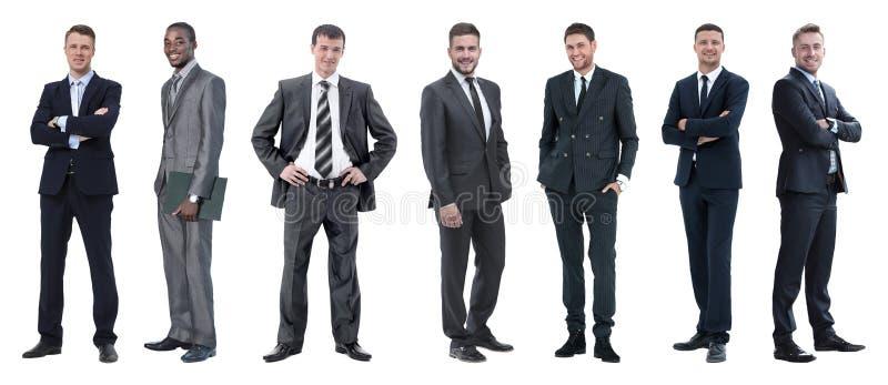 Collage van gemengde leeftijdsgroep geconcentreerde bedrijfsberoeps royalty-vrije stock foto