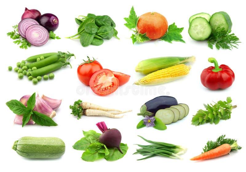 Collage van groenten stock foto
