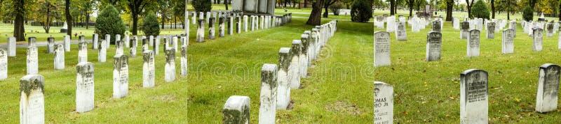 Collage van het de begraafplaatsgras van de veteranenoorlog de herdenkings royalty-vrije stock afbeeldingen