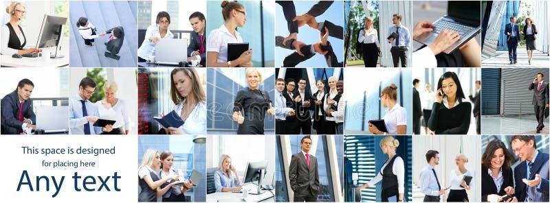 Collage van jonge bedrijfsmensen stock foto