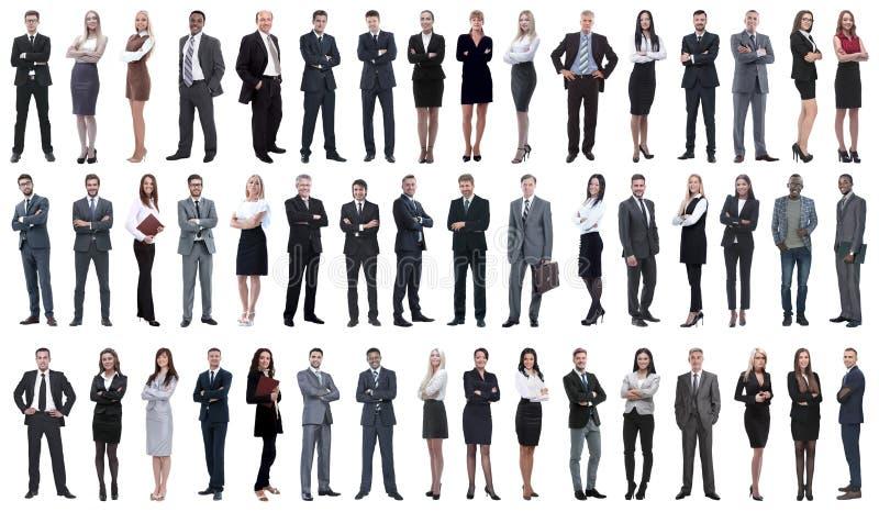 Collage van jonge bedrijfsmensen die zich op een rij bevinden royalty-vrije stock fotografie