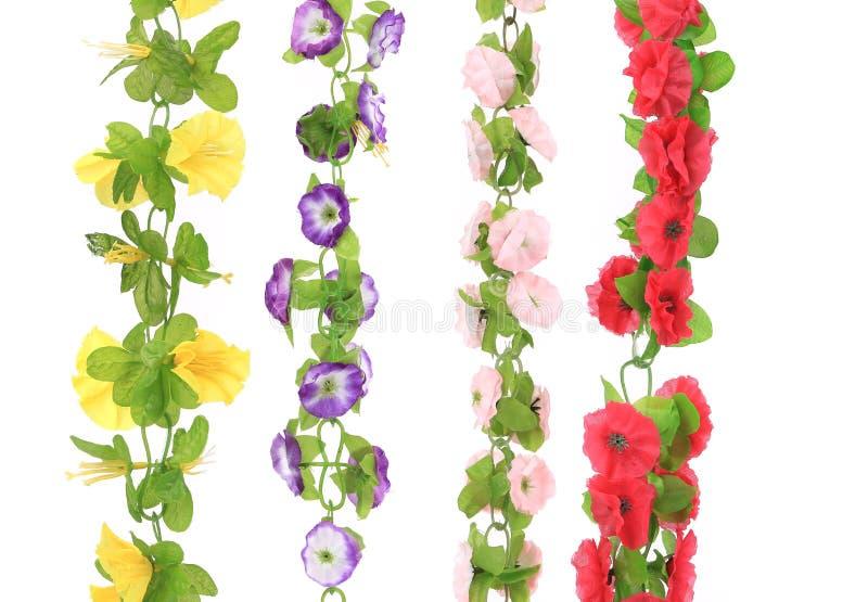 Collage van kunstbloemen. Sluit omhoog. royalty-vrije stock afbeelding