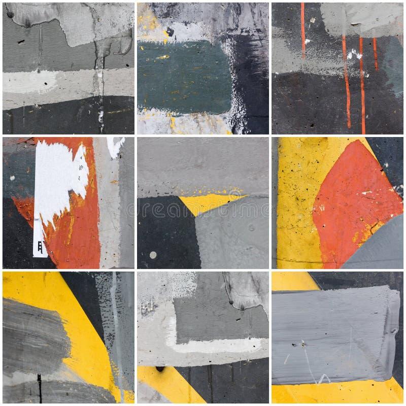 Collage van muurtextuur royalty-vrije stock fotografie