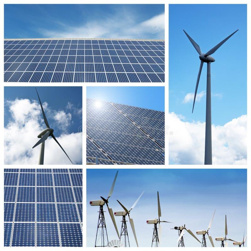 Collage verde de la energía fotos de archivo libres de regalías