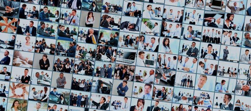 Collage vom Geschäftsbild stockbilder