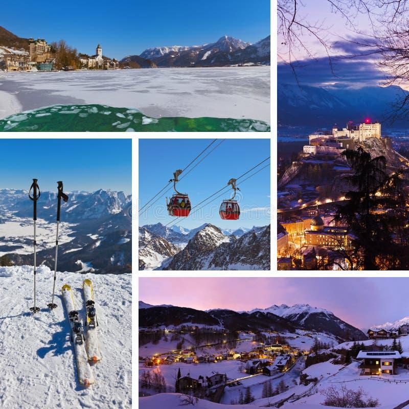Collage von Österreich-Bildern stockfotografie