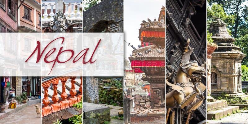 Collage von Ansichten von Nepal lizenzfreie stockfotografie