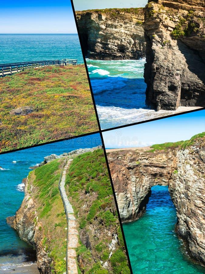 Collage von Asturien Spanien Europa lizenzfreie stockbilder