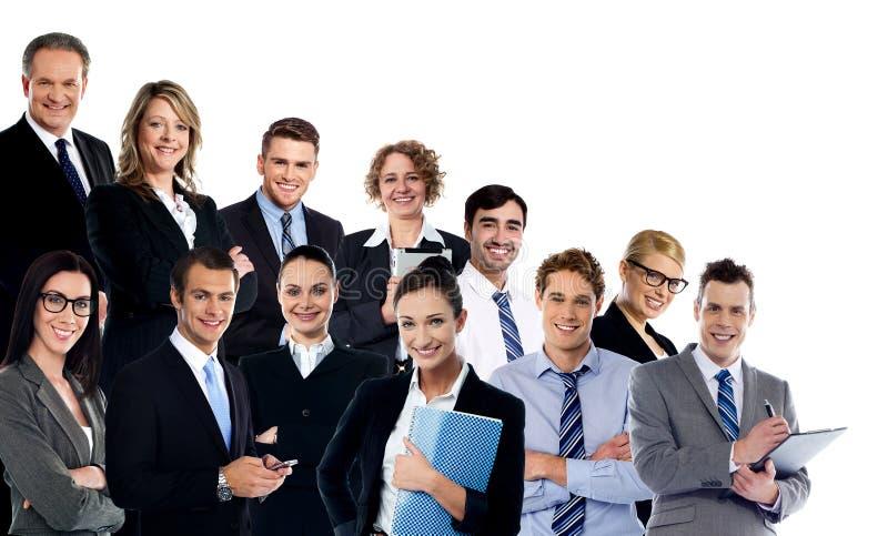 Collage von Geschäftsexperten stockbilder