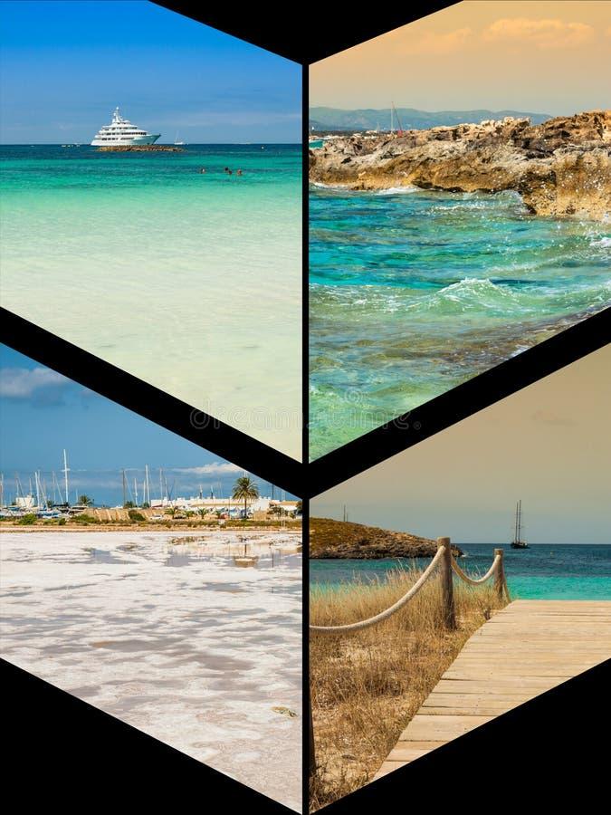 Collage von Insel Formentera, Spanien europa lizenzfreies stockfoto