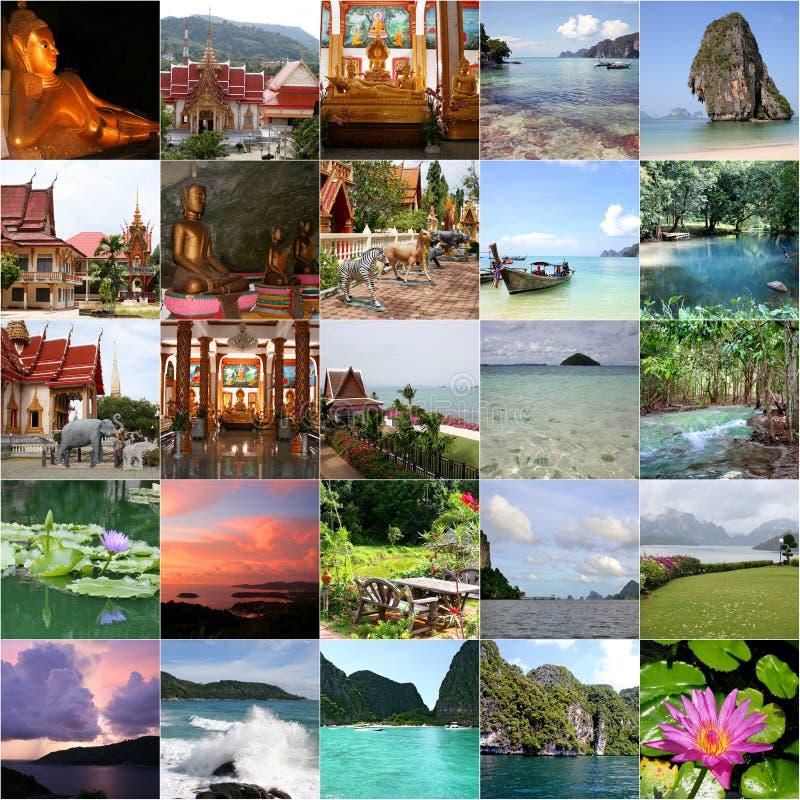 Collage von Thailand stockfoto