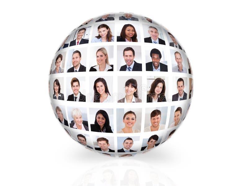 Collage von verschiedenen Geschäftsleuten stockbild