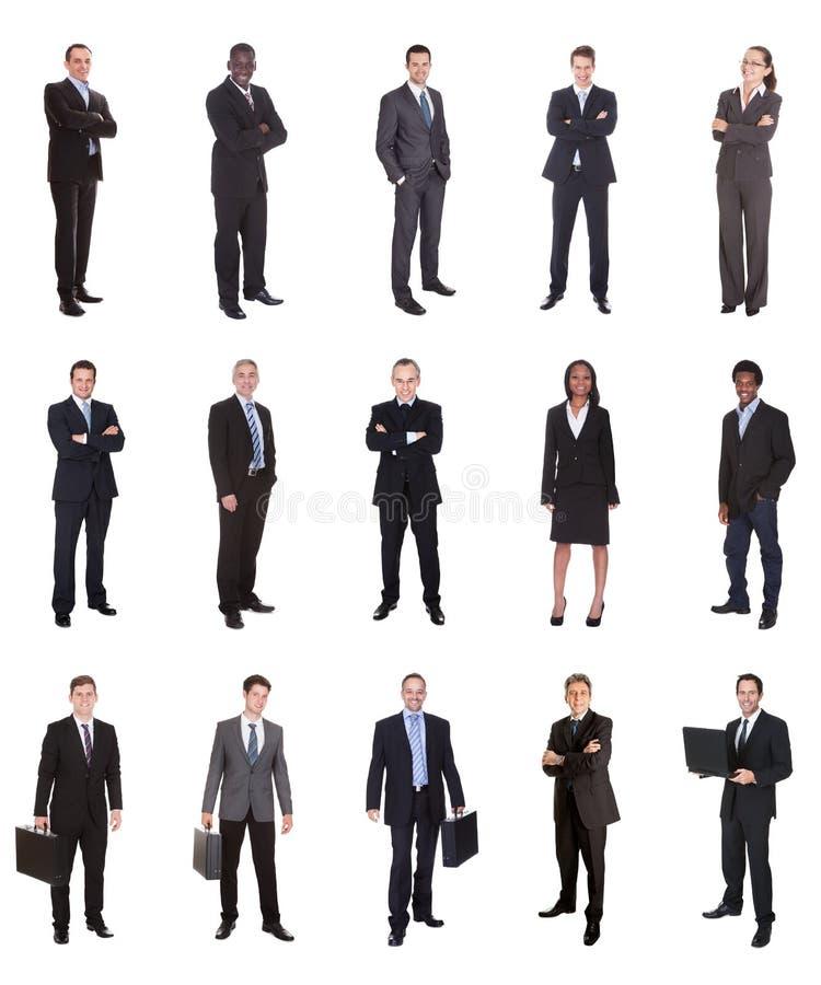 Collage von verschiedenen Wirtschaftlern lizenzfreies stockfoto