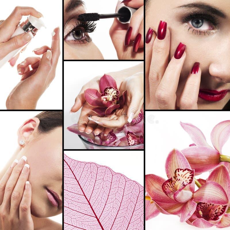 Collage voor gezondheidszorg en schoonheids de industrie stock fotografie