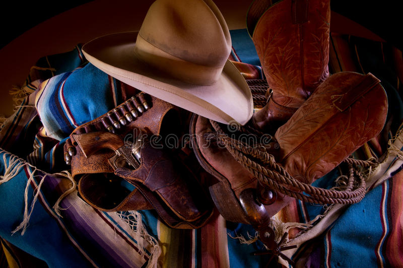 collagecowboy royaltyfri foto