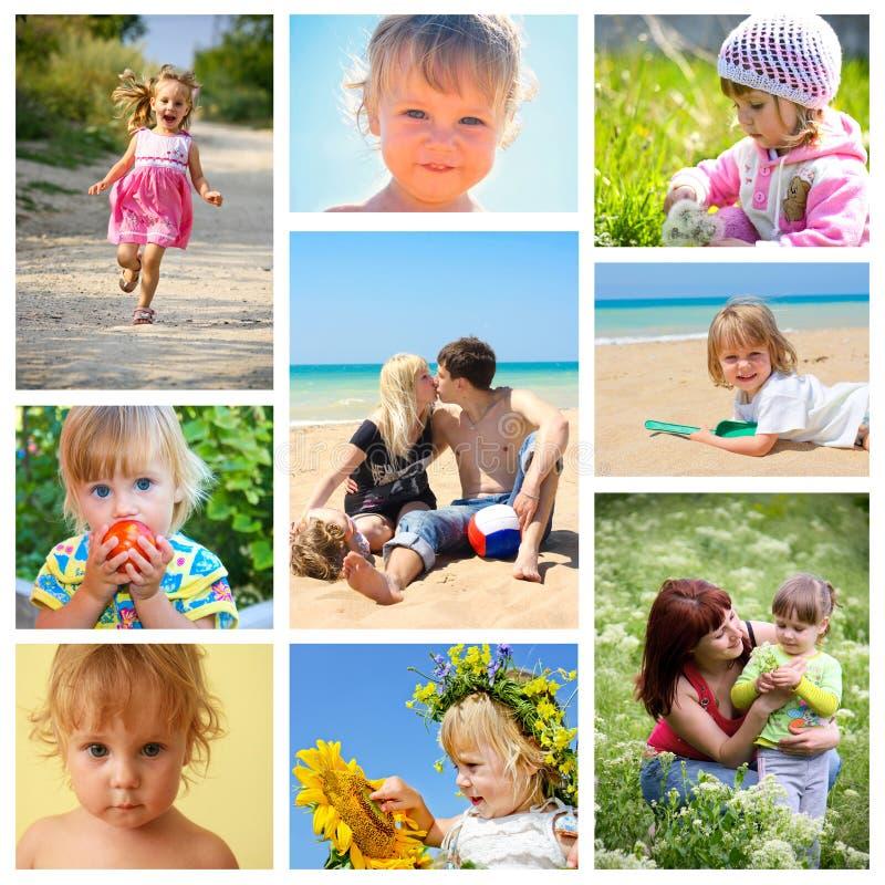 collagefamilj fotografering för bildbyråer