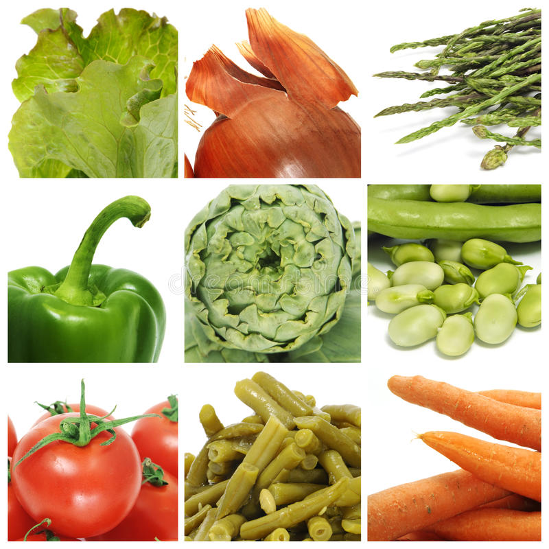 collagegrönsaker royaltyfria foton