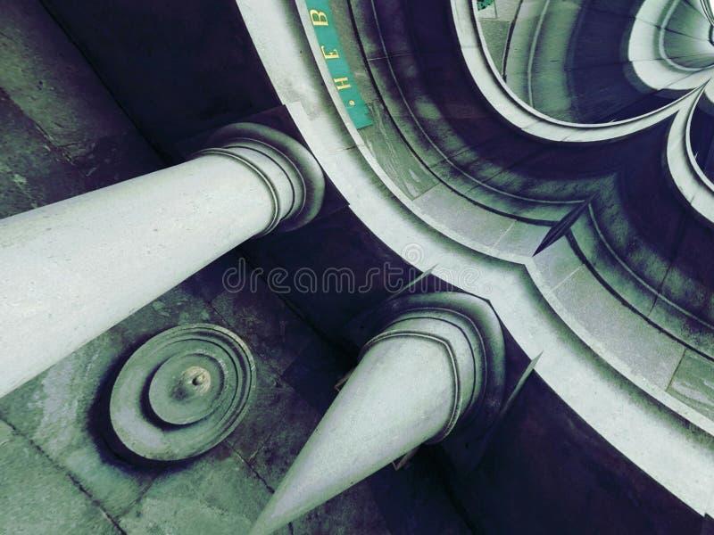 Collagehussten med kolonner stock illustrationer