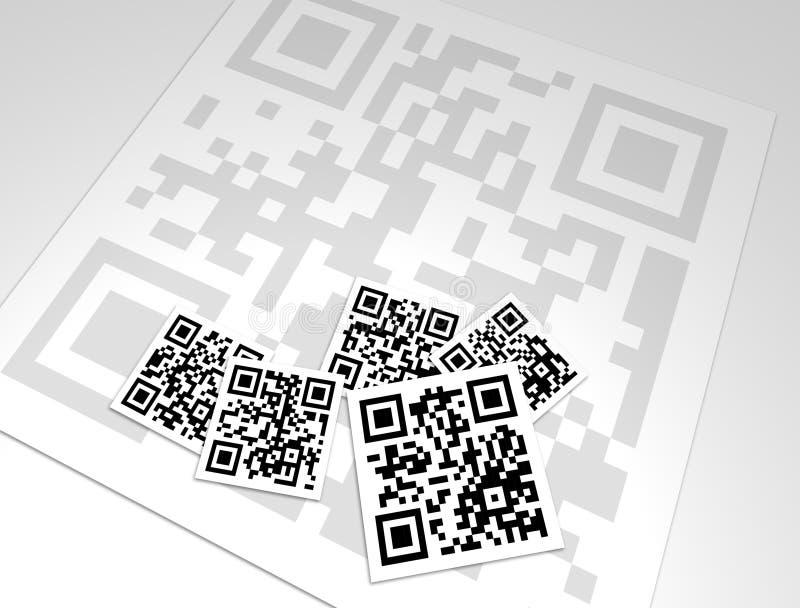 Collagen-Auslegung der QR Codes stock abbildung