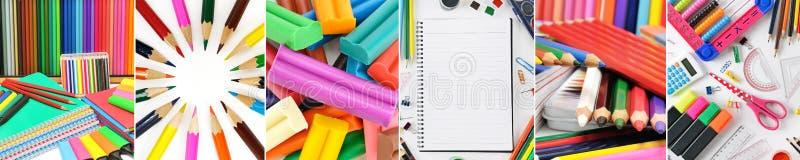 Collagenbriefpapier/-Schulbedarf trennten vertikale Linien stockfotos