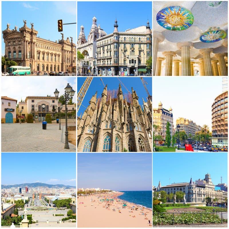 Collageskönhet Barcelona. royaltyfria bilder
