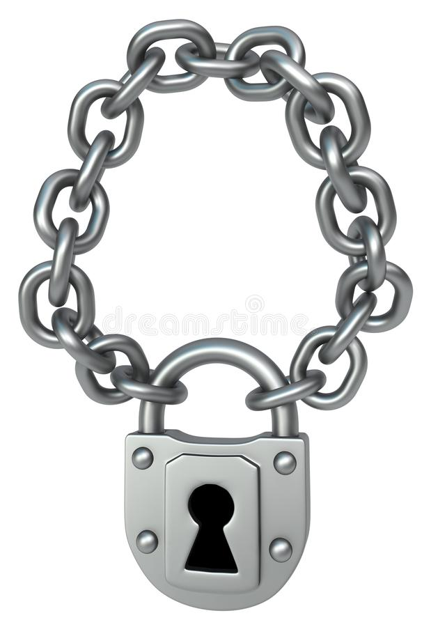 Collana a catena della serratura illustrazione di stock