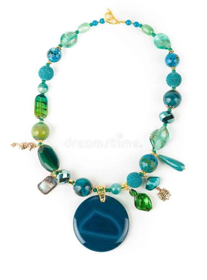 Collana creativa del Chalcedony fotografie stock