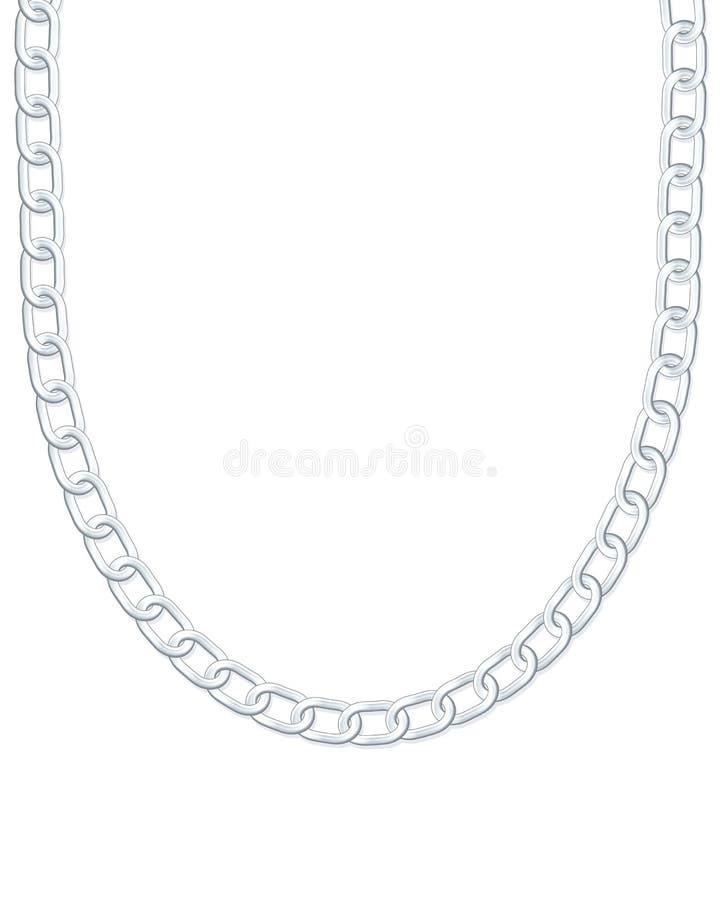 Collana d'argento illustrazione di stock