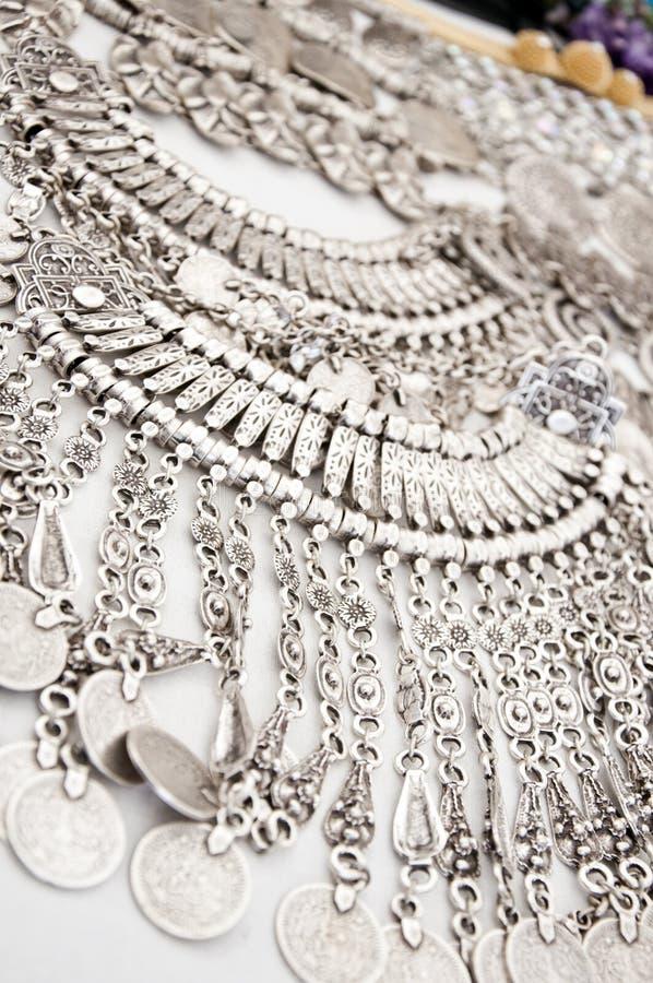 Collana d'argento fotografia stock