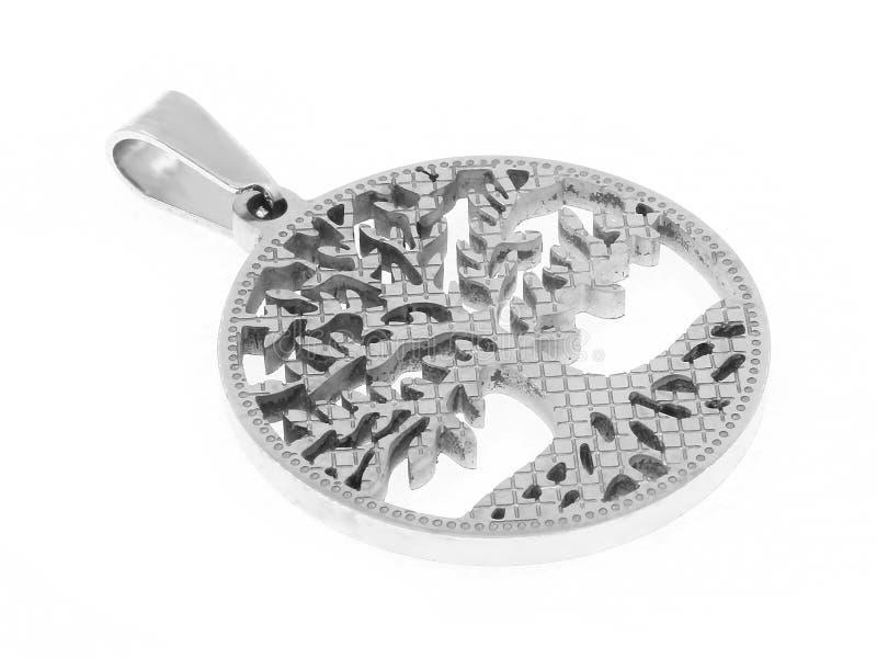 Collana del gioiello Albero della vita del pendente Acciaio inossidabile immagini stock libere da diritti