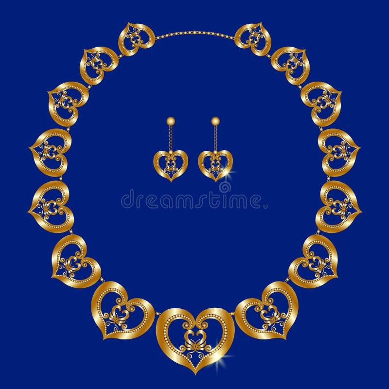 Collana dell'oro royalty illustrazione gratis